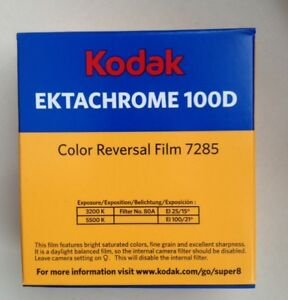kodak ektachrome 100d super 8 1 cassette
