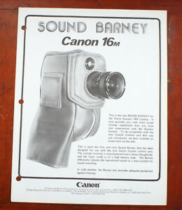canon dealer notebook sheet for scoopic