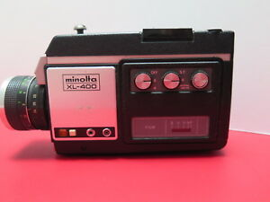 minolta xl 400 super 8mm film video movie