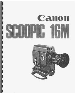 canon scoopic 16m movie camera service