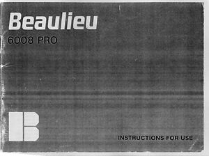 beaulieu 6008 pro instruction manual