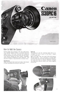 canon scoopic 16 movie camera instruction
