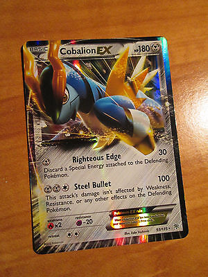 NM Pokemon COBALION EX Card PLASMA STORM Set 93/135 Black and White Ultra Rare
