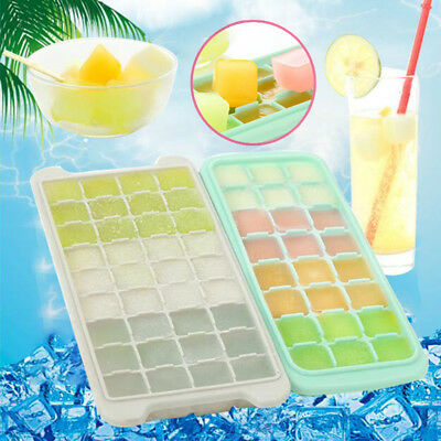 Ice Cube Trays 24/36 Grid Silicone