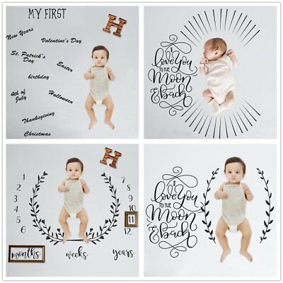Разное Newborn Baby Milestone Blanket Photo