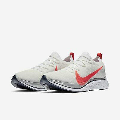 9195c0c2b8a6e Nike Zoom Vaporfly 4% Flyknit White Silver Mens Womens Running 2019 ORDER  NOW