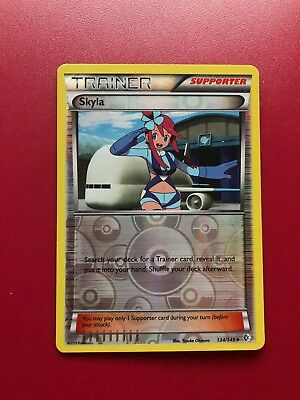 Pokemon Card Skyla Reversed Holo 134/149 Boundaries Crossed (Near Mint)