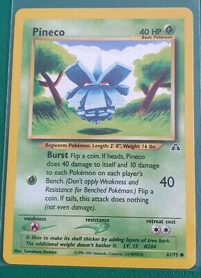 Pokemon Card Pineco 61/75 -  Neo Discovery - Excellent Condition