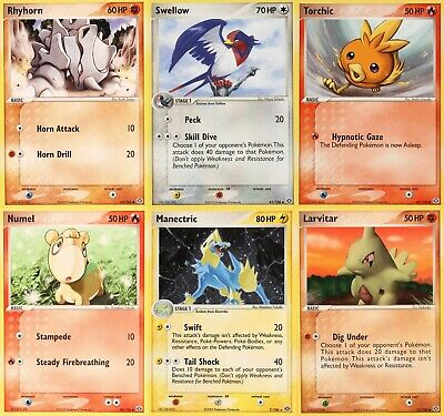 Pokemon Emerald Trading Cards - Select from List