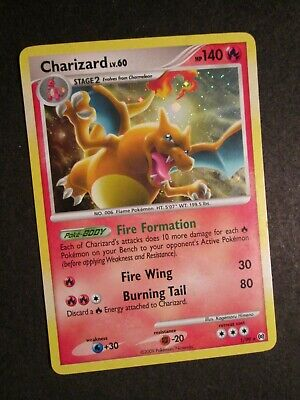 PL Pokemon (Holo) CHARIZARD Card ARCEUS (Platinum) Set 1/99 Rare PLAYED AP