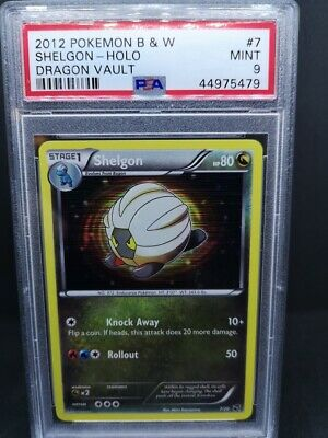 Pokemon B&W Dragon Vault Shelgon Holo #7/20 PSA 9 MINT
