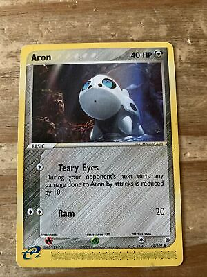 Aron 49/109 Non Holo Pokemon Card. Ruby And Sapphire