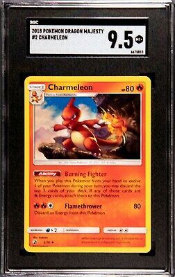 Pokemon SGC 9.5 MINT Charmeleon Dragon Majesty Card 2018 2/70