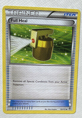 Pokemon Trainer Full Heal 93/111 Uncommon Nm Card Furious Fists Lb