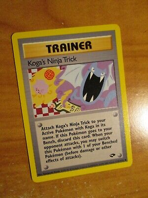 PL (Unlimited) Pokemon KOGA'S NINJA TRICK Card GYM CHALLENGE Set 115/132 PLAYED