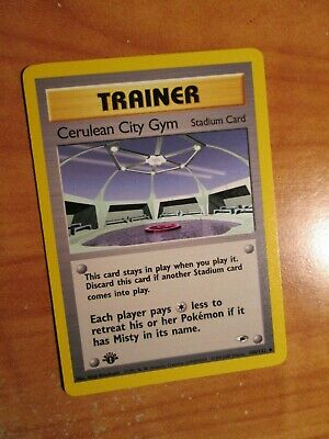 PL (1st edition) Pokemon CERULEAN CITY GYM Card GYM HEROES Set 108/132 ed PLAYED