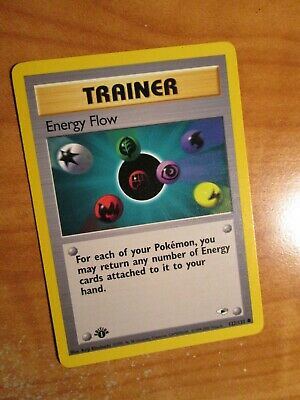 PL(1st edition) Pokemon ENERGY FLOW Card GYM HEROES Set 122/132 First Ed PLAYED