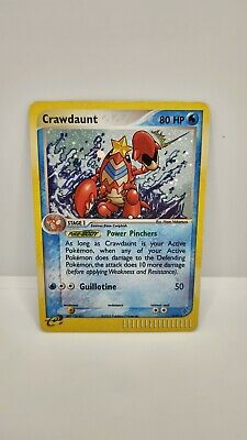Crawdaunt 3/97 EX Dragon HOLO RARE Pokemon Card