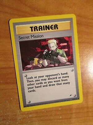 NM(Unlimited)Pokemon SECRET MISSION Card GYM HEROES Set 118/132 UNCOMMON Trainer