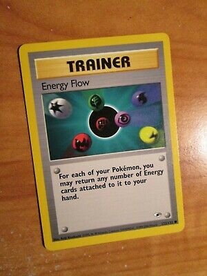 NM (Unlimited) Pokemon ENERGY FLOW Card GYM HEROES Set 122/132 COMMON Trainer