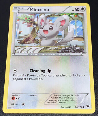 Pokemon Fates Collide Minccino 86/124 Common - Excellent Condition