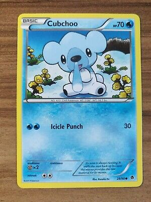 Cubchoo 29/98 - MINT Emerging Powers - Pokemon TCG 2011 Common Card