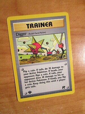 PL (1st edition) Pokemon DIGGER Card TEAM ROCKET 75/82 First ed Trainer PLAYED