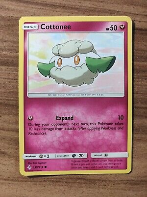 Cottonee 139/214 - MINT SM Unbroken Bonds - Pokemon TCG 2019 Common Card