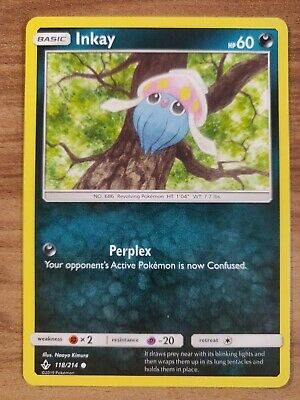 Inkay 118/214 - MINT SM Unbroken Bonds - Pokemon TCG 2019 Common Card