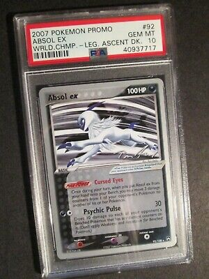 PSA-10 Pokemon (World Champs) ABSOL EX Card EX POWER KEEPERS Set 92/108 WC-2007
