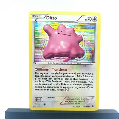 Pokemon - Boundaries Crossed: Ditto - Moderately Played Holofoil