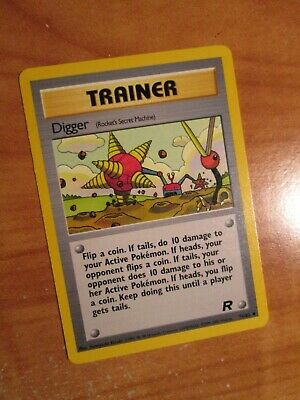 PL (Unlimited) Pokemon DIGGER Card TEAM ROCKET Set 75/82 Uncommon Trainer PLAYED