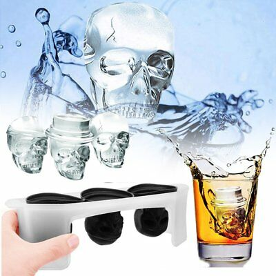 Ice Cube Trays 4Pcs 3D Silicone