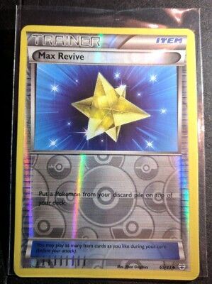 Max Revive, Generations 65/83, Reverse Holo Mint Pokemon Card. Near mint+