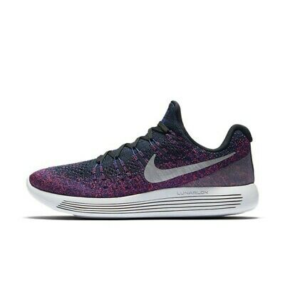 best sneakers 31c88 55601 Nike Lunarepic Low Flyknit 2 Black Purple Silver 863779-015 New Men s Multi  Size
