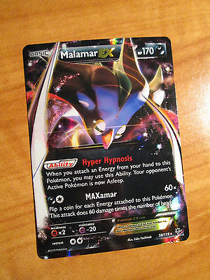 PL Pokemon MALAMAR EX Card PHANTOM FORCES Set 58/119 XY X Y Ultra Rare PLAYED
