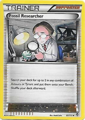 FOSSIL RESEARCHER 92/111 XY Furious Fists Holo Pokemon Card LP