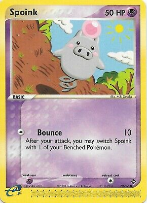 SPOINK 73/97 EX Dragon Pokemon WOTC Card NM