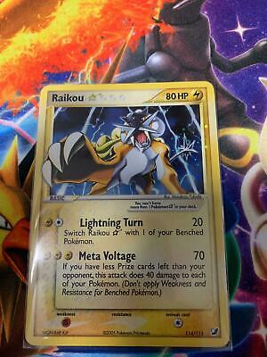 Pokemon EX Unseen Forces Raikou Gold Star Holographic #114 NM/M