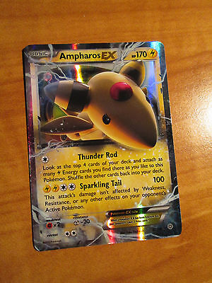 LP Pokemon AMPHAROS EX Card ANCIENT ORIGINS Set 27/98 XY X and Y Ultra Rare