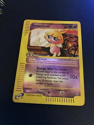 Pokemon TCG Smoochum Reverse holo 61/147 Good Cond. Aquapolis 2003 WoTC Vintage