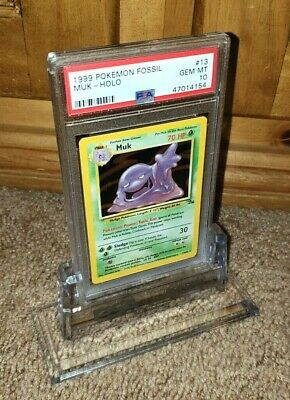 MUK-TACULAR 1999 POKEMON Fossil Series Muk HOLO #13 PSA GRADED GEM MINT 10!