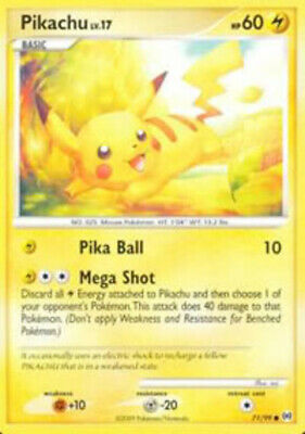 Pikachu - 71/99 - Common - Arceus - NM - Pokemon