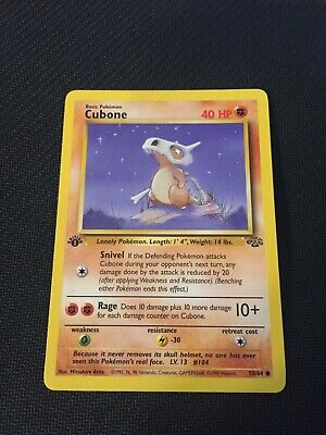 Cubone 50/64 1st Edition Jungle Set Non-Holo Pokemon Card