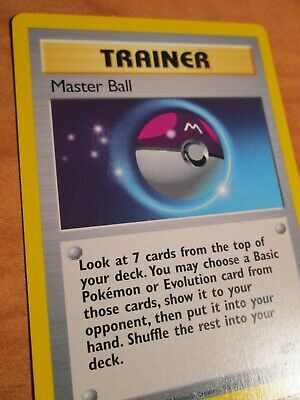 PL (Corrected-Text-Error) Pokemon MASTER BALL Card GYM CHALLENGE 116/132 PLAYED