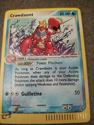 Pokemon Card Crawdaunt 3/97 Holo Rare EX Dragon