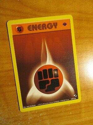 NM (1st edition) Pokemon FIGHTING ENERGY Card GYM HEROES Set 127/132 First Ed
