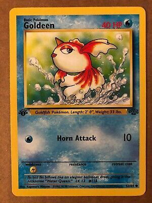 Pokemon Goldeen 53/64 1st Edition Jungle Common LP See Pictures