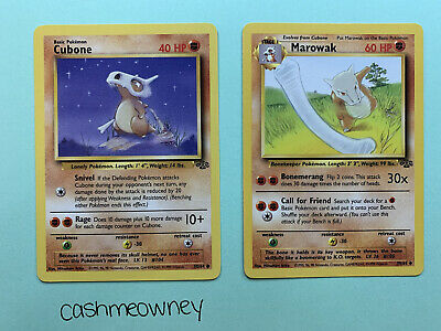 Pokemon Jungle Set COMMON Cubone 50/64 - UNCOMMON Marowak 39/64 - PACK FRESH