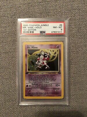 1999 Pokemon Jungle 1st Edition Holo Mr. Mime #6 PSA 8 NM-MT